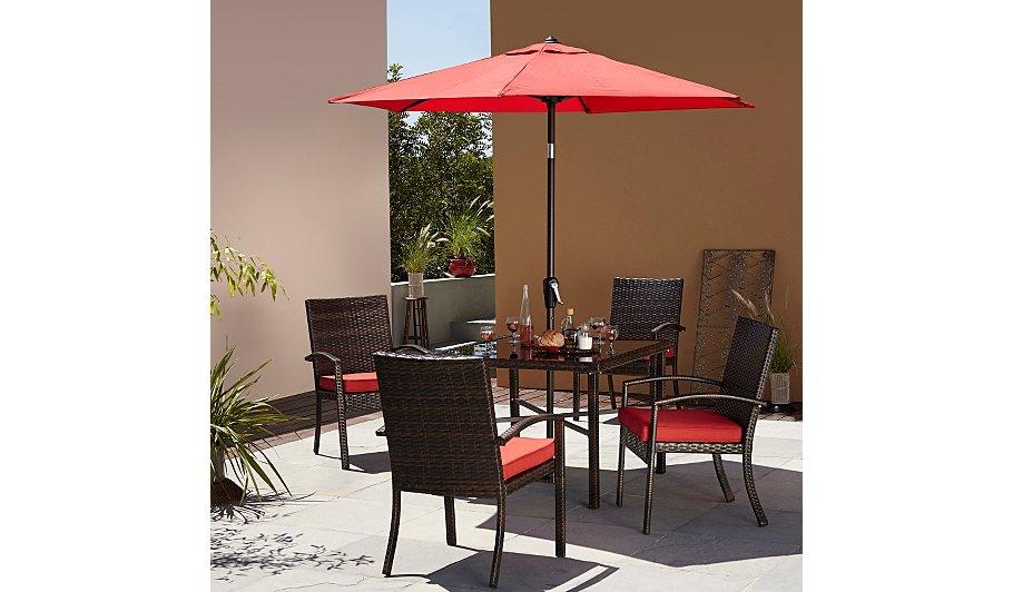 Jakarta 6 piece patio dining set garden furniture for Furniture jakarta