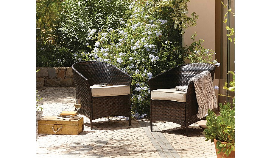 Jakarta 2 classic patio tub chairs garden furniture for Outdoor furniture jakarta