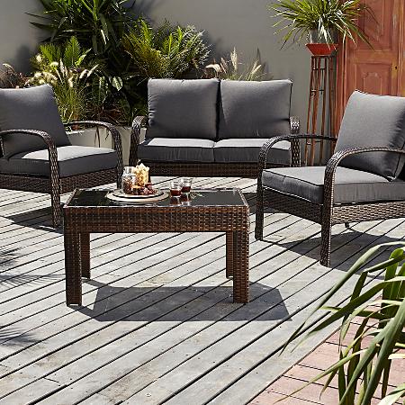Jakarta Conversation Sofa Set In Charcoal 4 Piece Garden Furniture Asda Direct