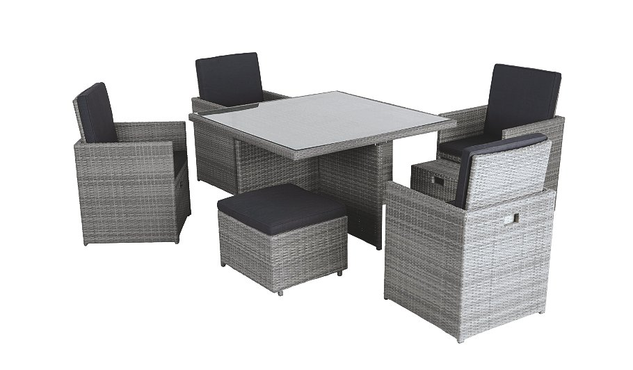 Borneo 9 Piece Cube Dining Set Home Garden George At ASDA