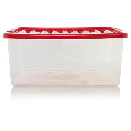 asda 45l box lid red storage asda direct. Black Bedroom Furniture Sets. Home Design Ideas