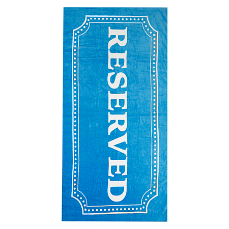 george home reserved print beach towel towels bath. Black Bedroom Furniture Sets. Home Design Ideas