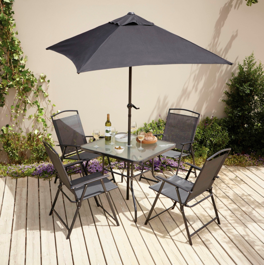 Miami 6 Piece Patio Set Garden Furniture George At Asda