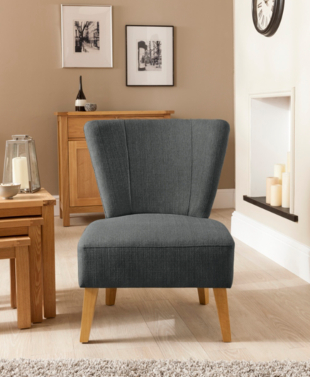 Cocktail Chair In Charcoal Sofas Amp Armchairs George At