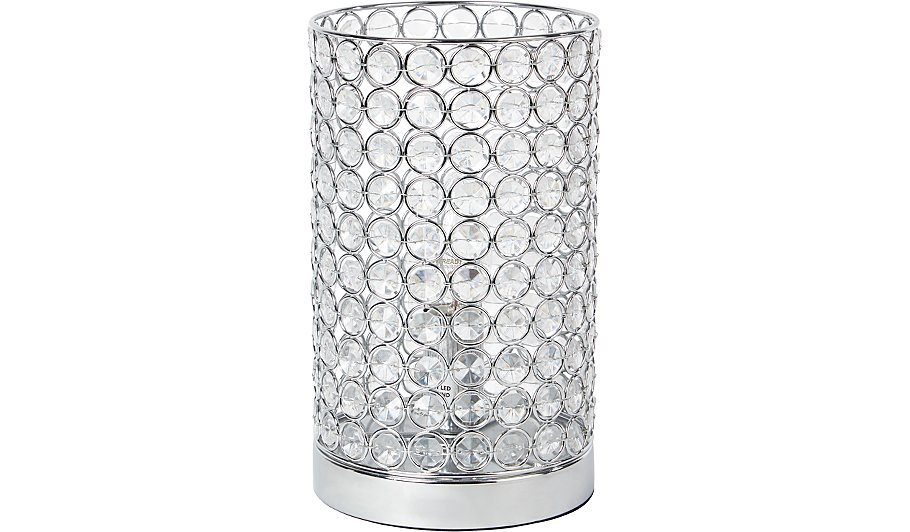 George Home Acrylic Crystal Beaded Cylinder Lamp