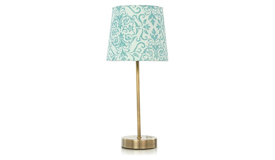 george home duck egg damask stick lamp table lamps. Black Bedroom Furniture Sets. Home Design Ideas