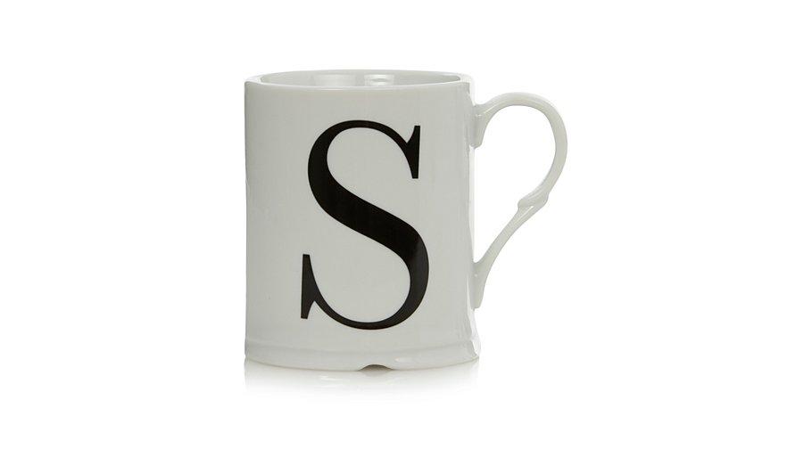 george home letter s mug