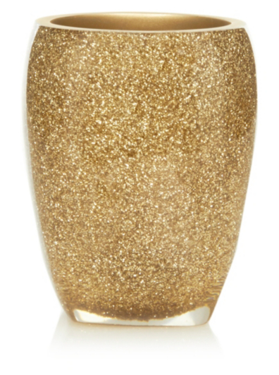 george home glitter tumbler gold bathroom accessories george at asda