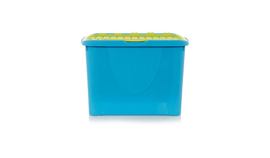 ASDA Blue Flip Lid Box - 60L