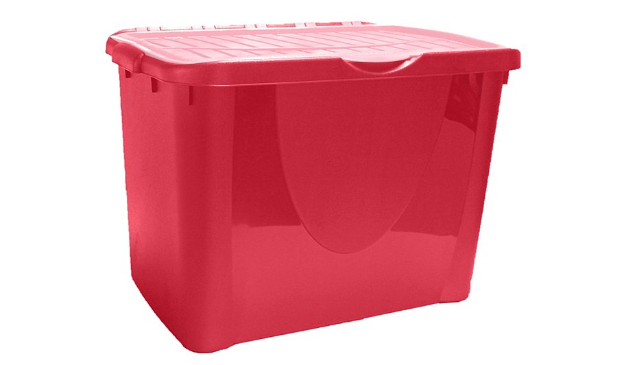 ASDA Pink Flip Lid Box - 60L