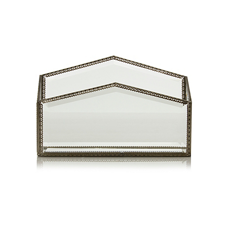 george home glass letter rack home accessories asda direct. Black Bedroom Furniture Sets. Home Design Ideas