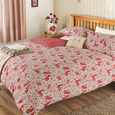George Home Woodland Block Print Duvet Set | Bedding ...