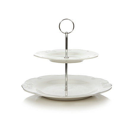 george home darcy 2 tier cake stand cake tins asda direct. Black Bedroom Furniture Sets. Home Design Ideas