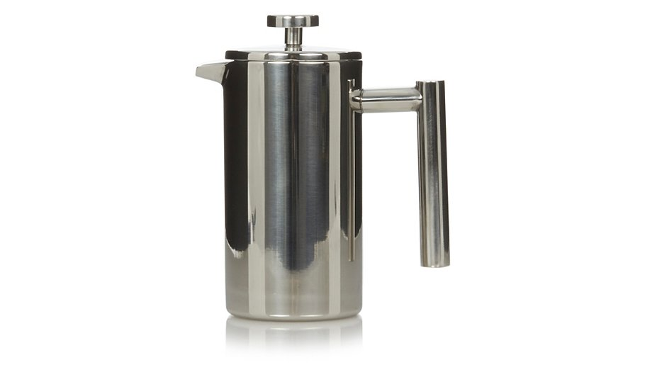 george home double walled stainless steel cafetiere cups mugs george at asda. Black Bedroom Furniture Sets. Home Design Ideas