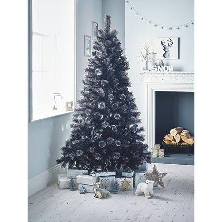 6 ft black cashmere feel tree shop by asda direct. Black Bedroom Furniture Sets. Home Design Ideas