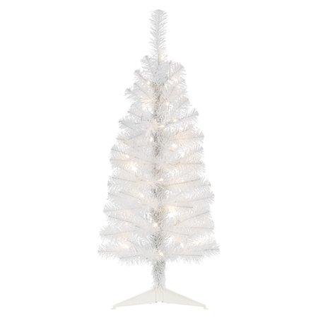3 ft white pre lit tree christmas trees asda direct. Black Bedroom Furniture Sets. Home Design Ideas