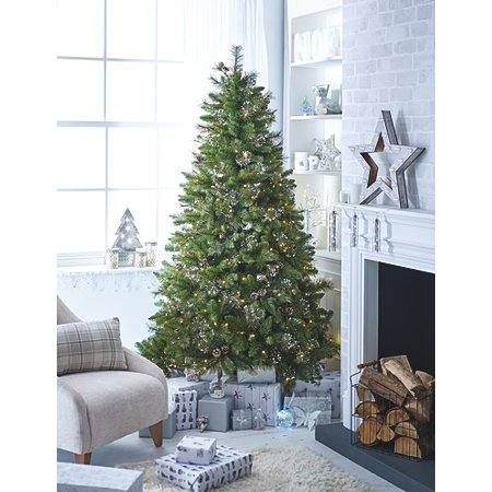 7 ft snowy spruce pre lit tree with tree bag. Black Bedroom Furniture Sets. Home Design Ideas