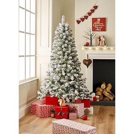 6ft snowy tree christmas trees asda direct. Black Bedroom Furniture Sets. Home Design Ideas