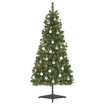 5 ft pre lit tree with ornaments christmas trees asda. Black Bedroom Furniture Sets. Home Design Ideas