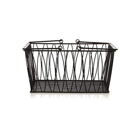 george home wire basket storage asda direct. Black Bedroom Furniture Sets. Home Design Ideas