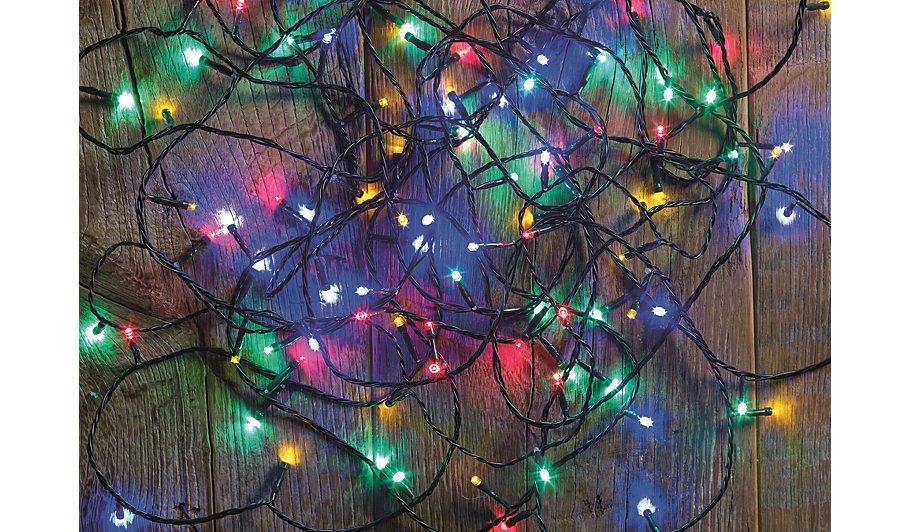 240 Multi Coloured Lights Christmas Lights ASDA direct