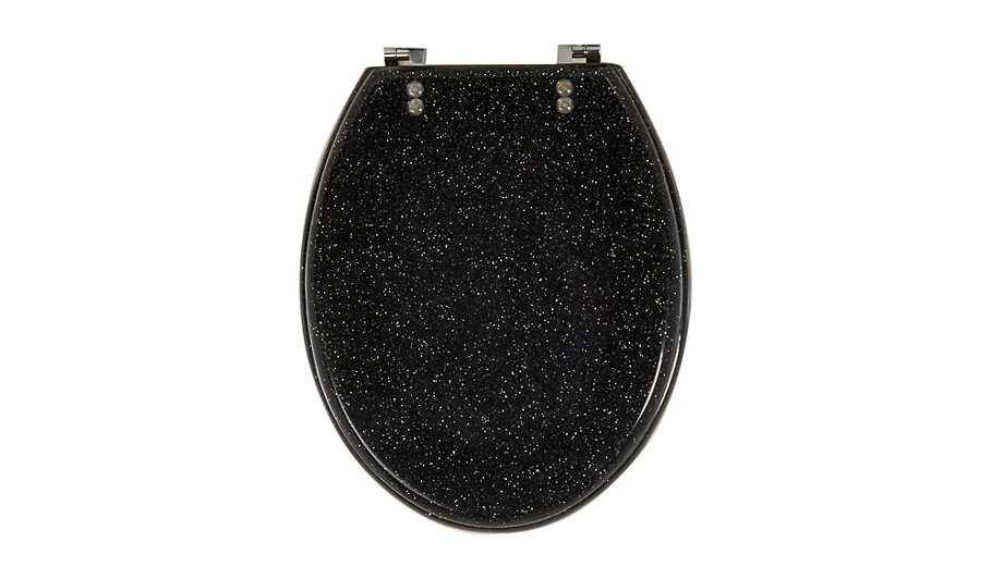 glitter toilet seat black bathroom fittings george. Black Bedroom Furniture Sets. Home Design Ideas