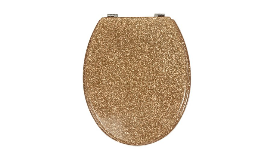 glitter toilet seat gold bathroom fittings george at. Black Bedroom Furniture Sets. Home Design Ideas