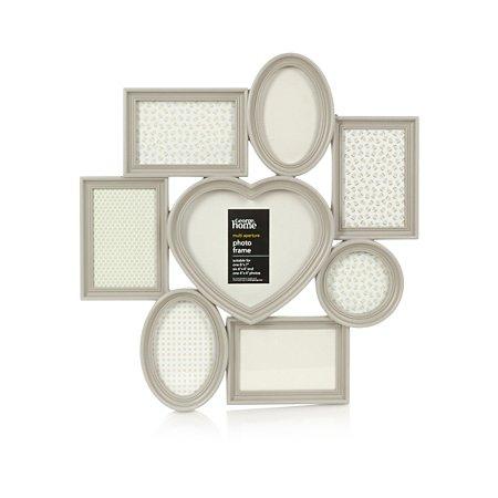 george home multi aperture love heart photo frame frames. Black Bedroom Furniture Sets. Home Design Ideas
