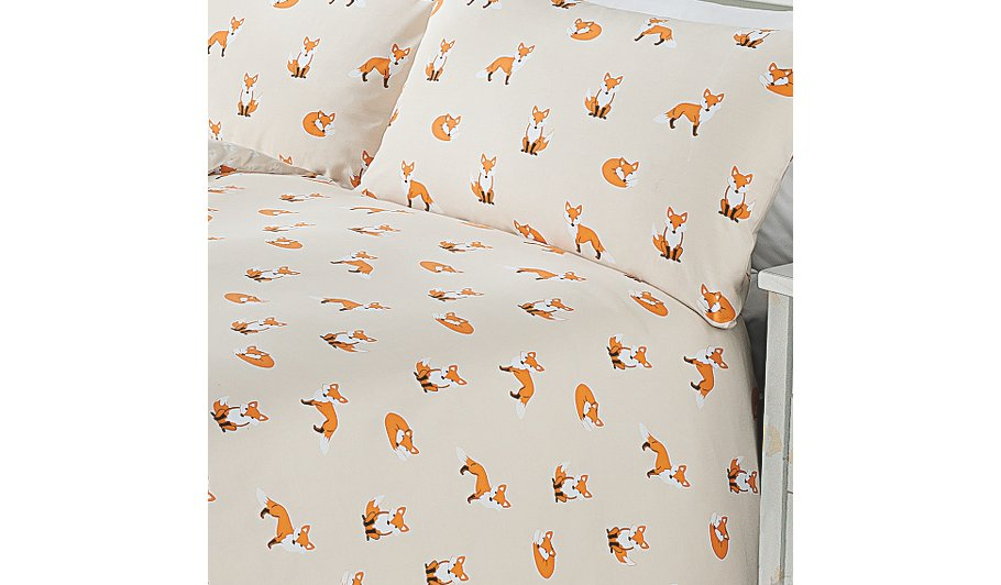 George Home Fox Print Duvet | Bedding | George at ASDA