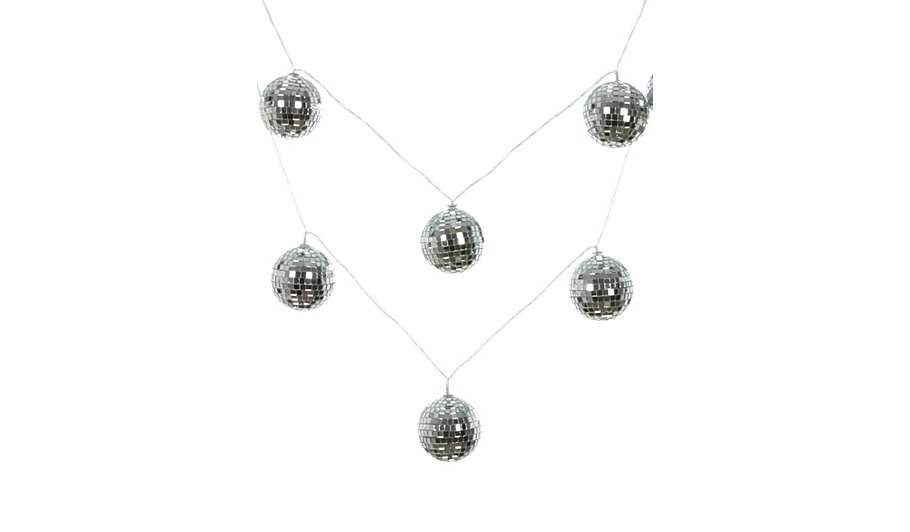 George Home Disco Ball String Lights Lighting ASDA direct