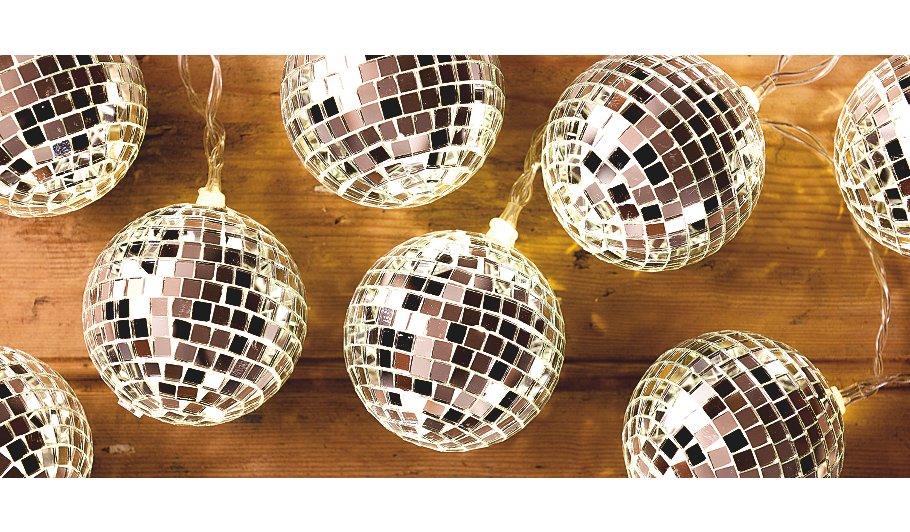 George Home Disco Ball String Lights Lighting ASDA direct