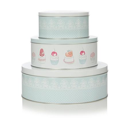 george home set of 3 sweet treats cake tins let 39 s. Black Bedroom Furniture Sets. Home Design Ideas