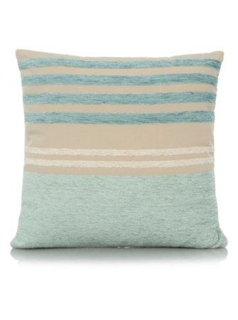 George Home Chenille Stripe Cushion 40x40cm