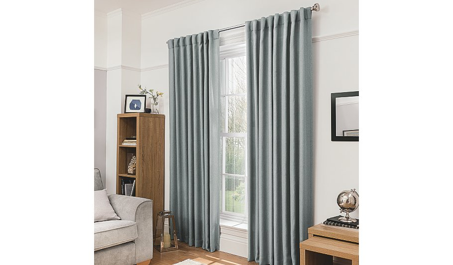 George Home Light Grey Blackout Curtains Home Garden George At Asda