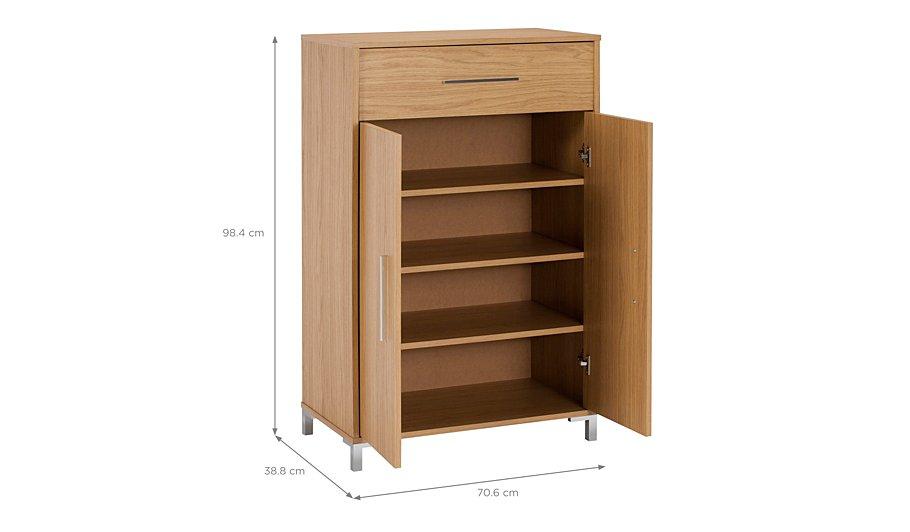 george home kaitlin shoe storage oak effect home. Black Bedroom Furniture Sets. Home Design Ideas