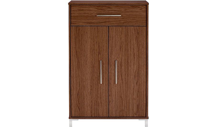 george home kaitlin shoe storage walnut effect home. Black Bedroom Furniture Sets. Home Design Ideas