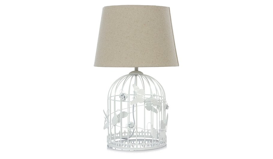 george home birdcage table lamp lighting george at asda. Black Bedroom Furniture Sets. Home Design Ideas