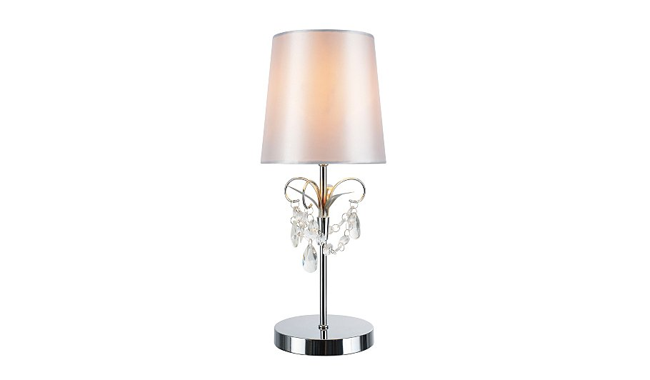 george home silver jewel table lamp lighting george at. Black Bedroom Furniture Sets. Home Design Ideas