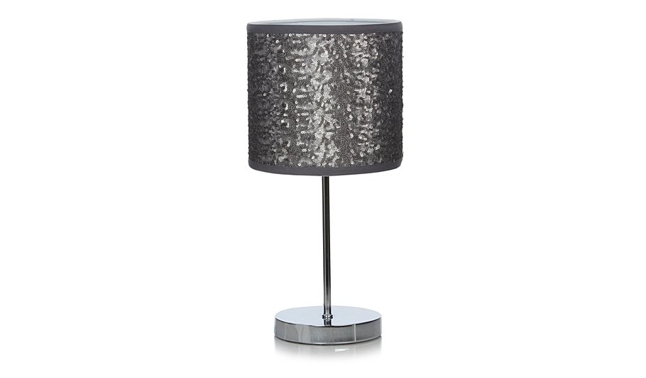 george home silver sequin table lamp lighting george. Black Bedroom Furniture Sets. Home Design Ideas