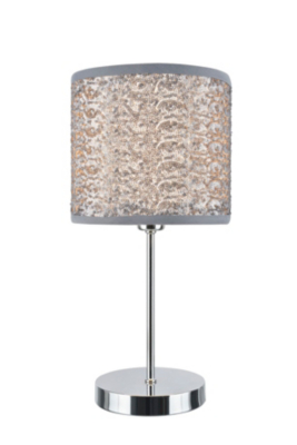 Marvelous George Home Silver Sequin Table Lamp Lighting George At ASDA