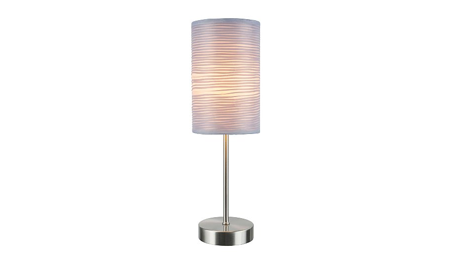 george home pleated touch table lamp grey lighting. Black Bedroom Furniture Sets. Home Design Ideas