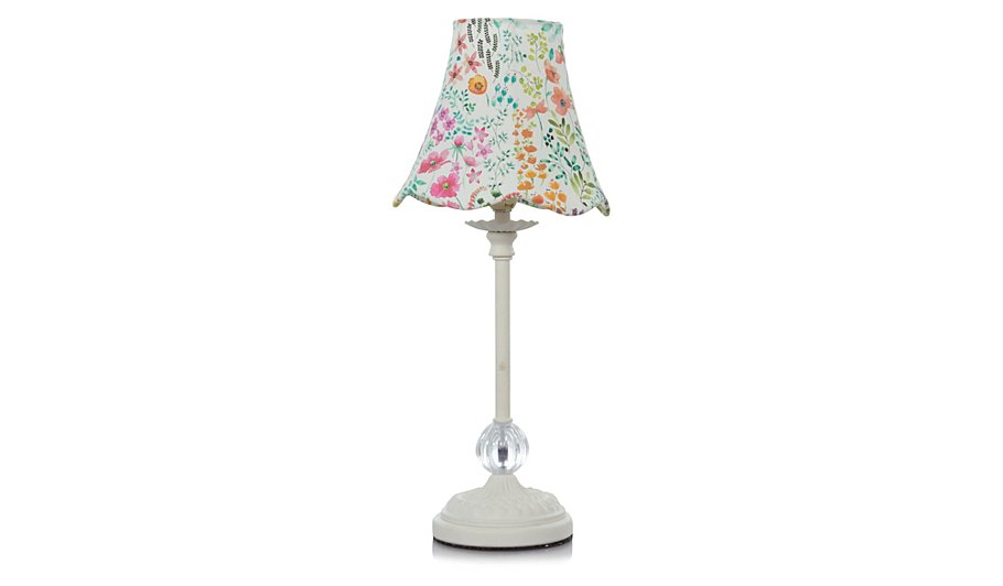 george home watercolour floral table lamp lighting. Black Bedroom Furniture Sets. Home Design Ideas