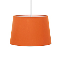 George Home Chimney Light Shade - Orange Lighting George at ASDA