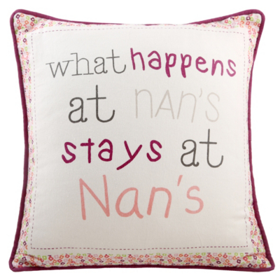 George Home Nan Slogan Cushion