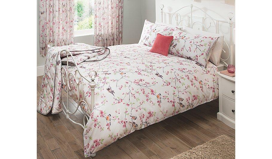 George Home Bird & Blossom Duvet Set   Bedding   ASDA direct
