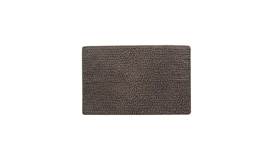george home microfibre chenille bath mat dark natural. Black Bedroom Furniture Sets. Home Design Ideas