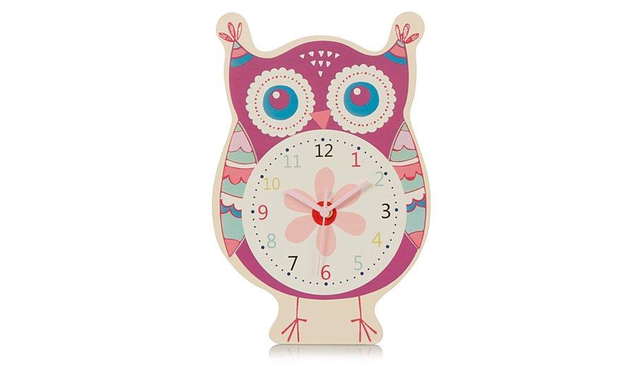 Owl Wall Clock. Kids Bedroom Accessories   Home   Garden   George at ASDA