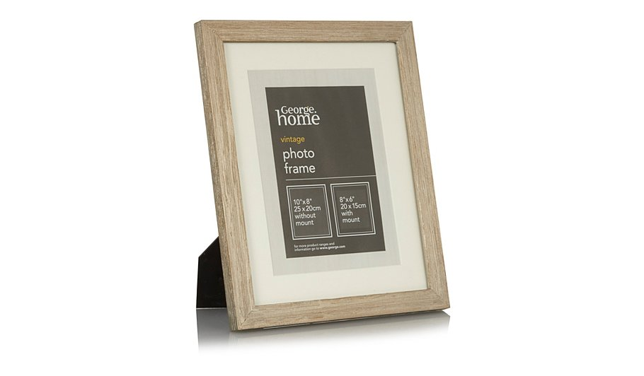 george home distressed wood photo frame 8 x 6 inch