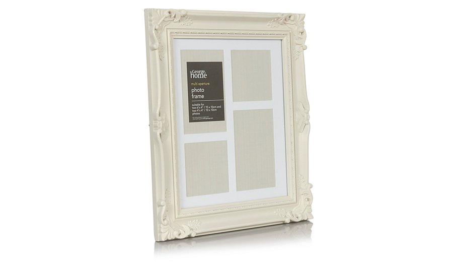 george home natural multi aperture baroque photo frame. Black Bedroom Furniture Sets. Home Design Ideas