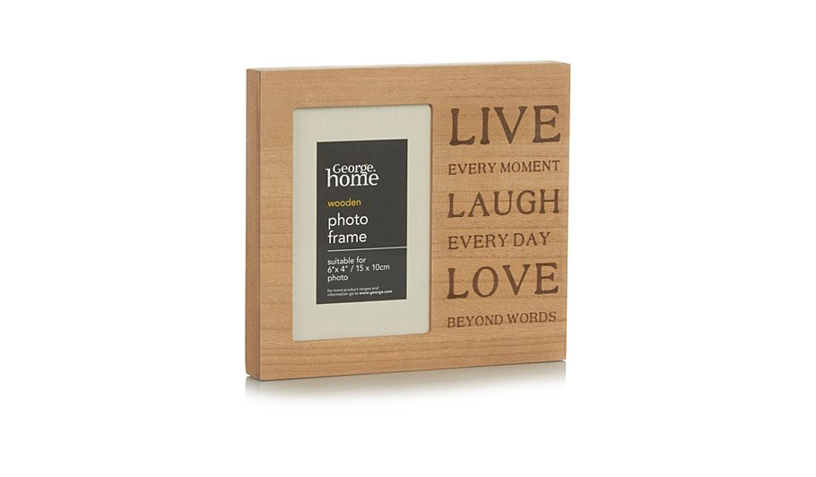 george home live laugh love photo frame 6 x 4 inch